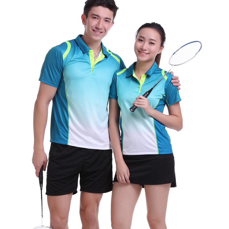 Sportswear Quick Dry breathable badminton shirt,Women/Men table tennis  clothes team game training short sleeve POLO T Shirts
