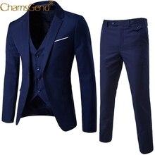 Newly Design 3-Pieces Men Blazer Suit Set Man Male Tuxedo Tr