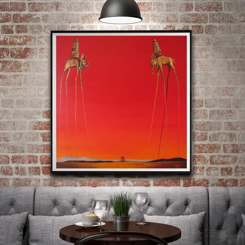 Salvador dali artwork painting surreal signs vintage for Home decor 24