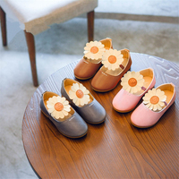 Girls Shoes Kids Casual Fashion Leather Shoes Princess Spring and Autumn Flower Kids Shoes for Girls Ballet Children Shoes