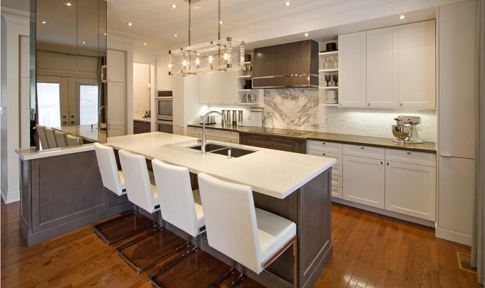 ᗚ2017 Nuevo diseño de madera maciza cabients cocina muebles para ...