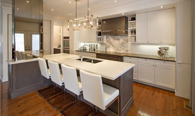 2017 Nuevo diseño de muebles de cocina de madera maciza para ...