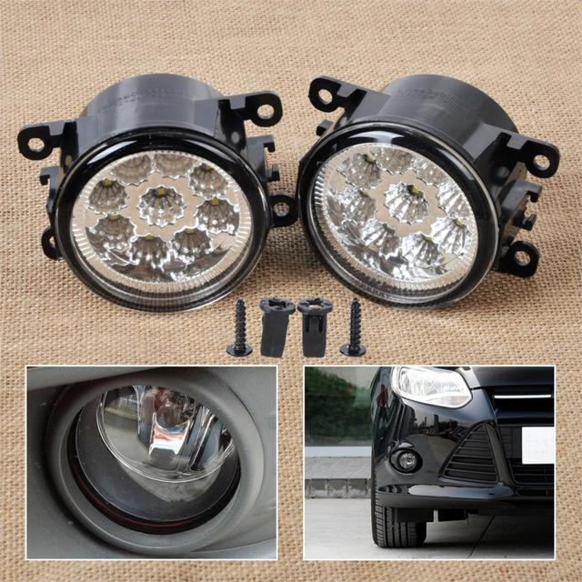 dwcx 2x 55w 9 led round front right left fog lamp drl daytimedwcx 2x 55w 9 led round front right left fog lamp drl daytime running driving lights 4f9z 15200 aa for ford focus acura honda