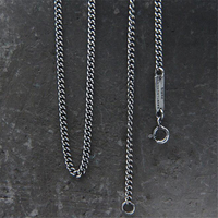 Hip Hop Mens Necklace Curb Cuban Chain 925 Sterling Silver Jewelry Party Daily Wear 2mm 45cm