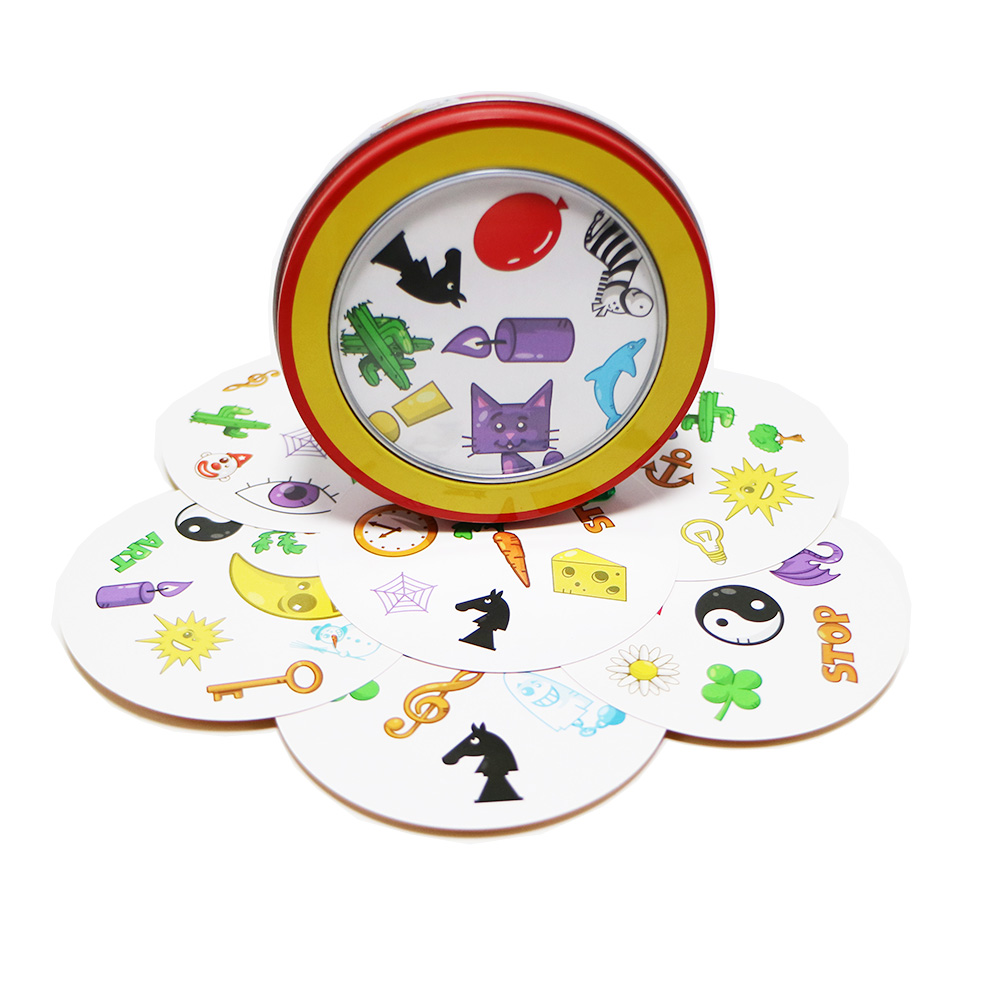 2019 Match Card Games Tin Box English Version Kids Toys For Family Party Fun Board Game