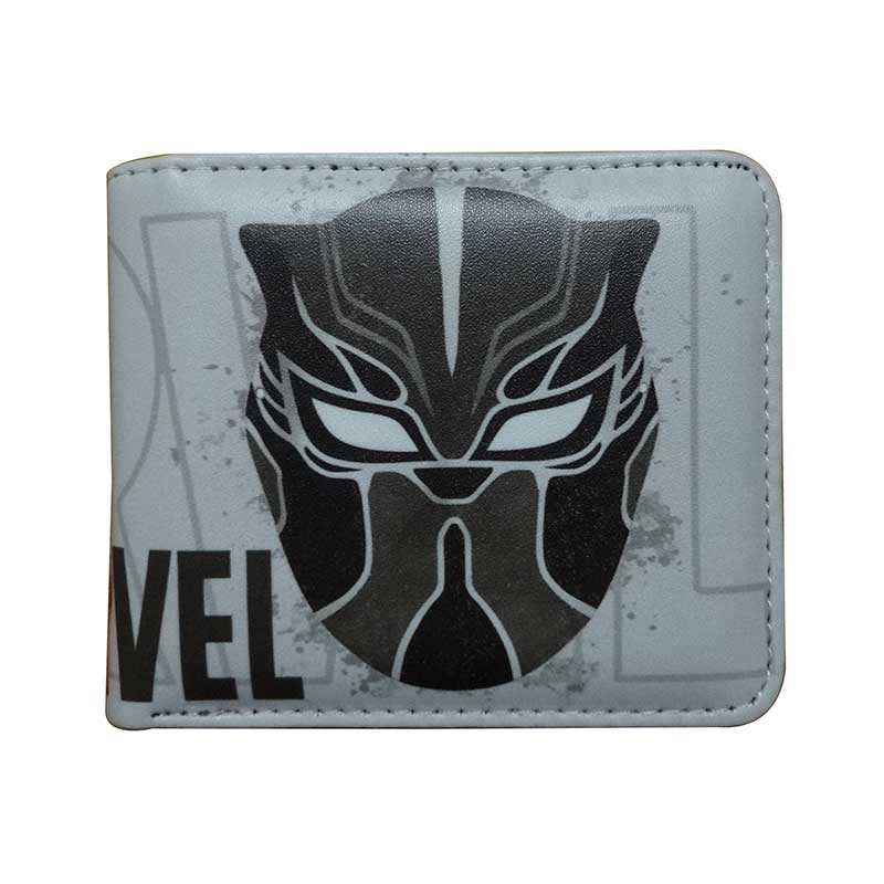 Super Hero Black Panther Men Wallet Animation Hot Cartoon Purse PU Leather Card Holder Zipper Coin Pocket Dollar Price Wallets