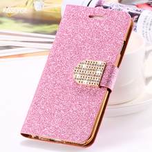 KISSCASE For iPhone 5S Case Glitter Bling Leather Cases For iPhone 5 5S SE 6 6s 7 Plus Stand Wallet Cover For iPhone 7 7 Plus SE