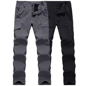 LoClimb NEW Military Tactical Camping Hiking Pants Men Winter Warm Fleece Waterproof Trousers For Ski Trekking Climbing,AM094