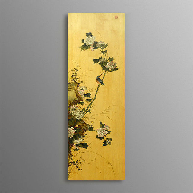 BNQJ 100% Hand Painted Traditional Chinese Painting Flower Hibiscus ...