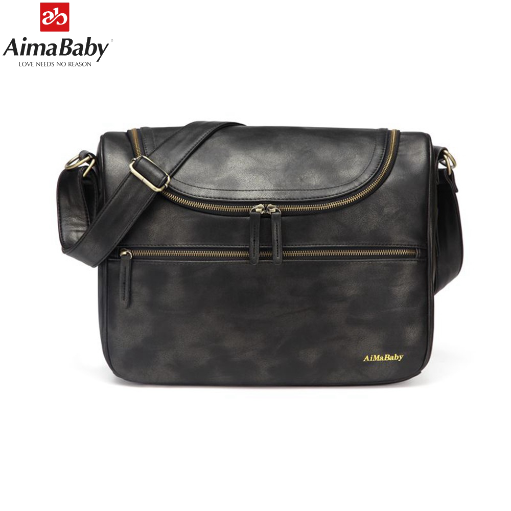 AIMABABY Baby Diaper Bag Large-capacity Fashionable Mother's Maternity Bag Baby Stroller Nappy Bag Mommy Bag