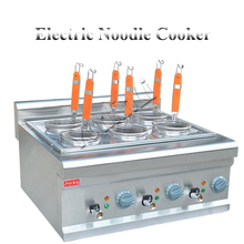 Электрическая лапшеварка Коммерческая из нержавеющей стали лапша кухонная машина настольная паста плита машина для приготовления пасты FY-6M