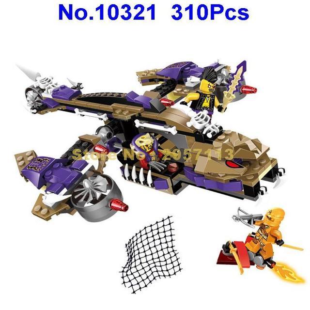 10321 310pcs Ninja Mecha Robot Anaconda Predators Helicopter Bela Building Block Compatible 70746 Brick Toy