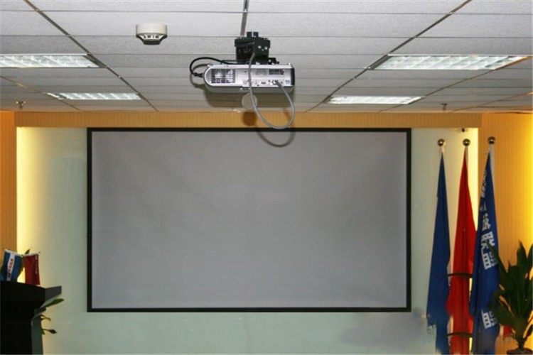 PVC Fabric Matte With 1.1 Gain Projector projection screen Wall Mounted Matt White for all projector (8)