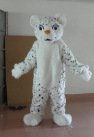 Latest high quality in-kind shooting white leopard mascot costume adult leopard mascot free shipping Holiday special clothing