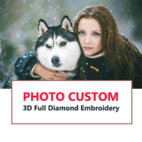 Photo Custom Diamond Painting Diamond Embroidery Private Custom Round Family Baby Wedding Cats Portrait Pet Photos