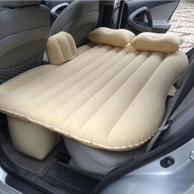 ФОТО Car Back Seat Cover Car Air Mattress Travel Bed Inflatable Mattress Air Bed Good Quality Inflatable Car Bed For Camping
