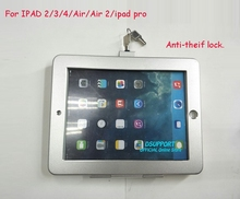 New Aluminum Alloy Tablet PC wall mounted Anti-Theft design Display Stand with security lock for 9.7 inch tablet PC