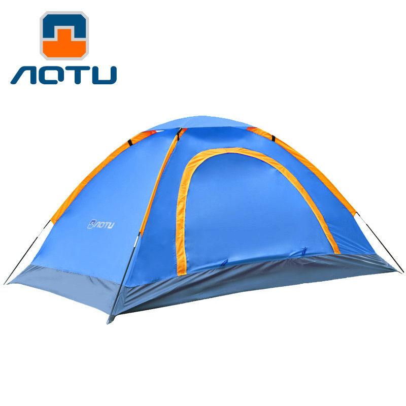 AOTU Camping Tents Solid Fabric 1-2 Person Rainproof Windproof Outdoor Tent for Hiking Fishing Hunting Adventure Picnic high quality outdoor 2 person camping tent double layer aluminum rod ultralight tent with snow skirt oneroad windsnow 2 plus