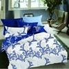 LILIYA 4 6Pieces Polyester Dark Blue Flowers Bedding Set Pillowcase High Quality Duvet Cover X H