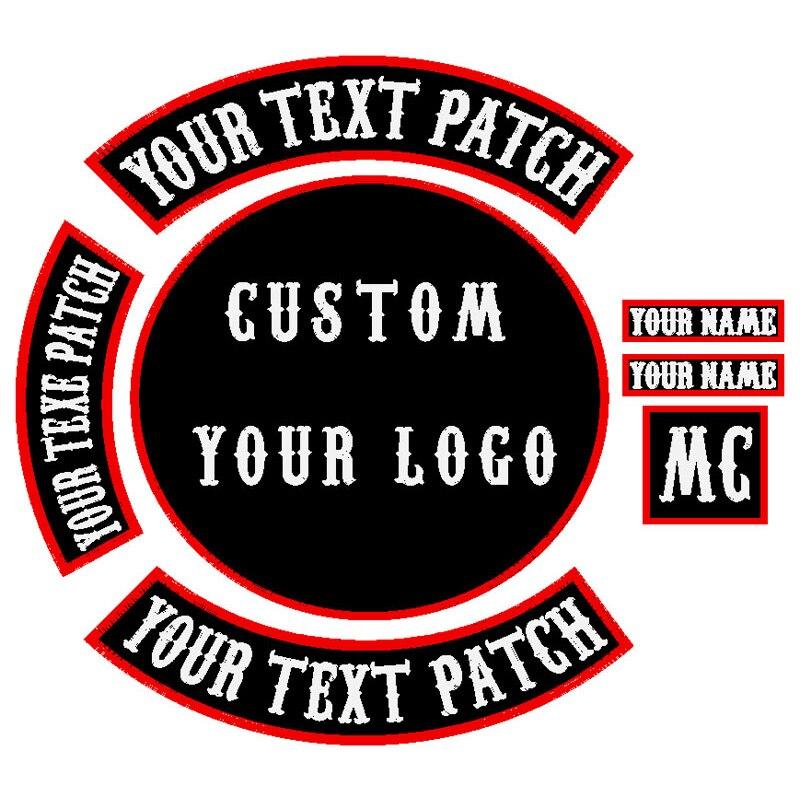 Motifs personnalisés patchs de broderie toute taille tout Logo qualité patchs brodés fournisseur fer sur et bâton