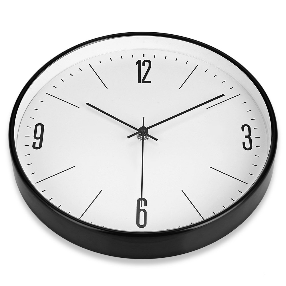 wall clocks for office. Brief Big Size 29cm Metal Wall Clocks Quiet Sweep Watch For Living Room Home Office Decor-in From \u0026 Garden On Aliexpress.com | Alibaba R