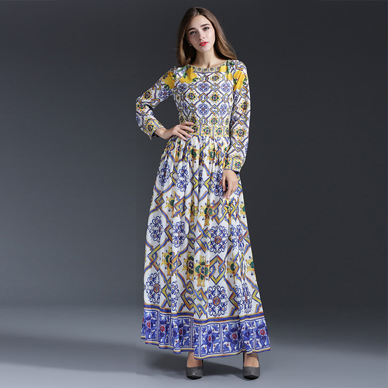 Plus long dress garment