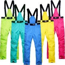 Новые уличные-35 градусов снежные брюки размера плюс с эластичной талией женские брюки зимние брюки для катания на коньках лыжные уличные лыжные брюки для женщин