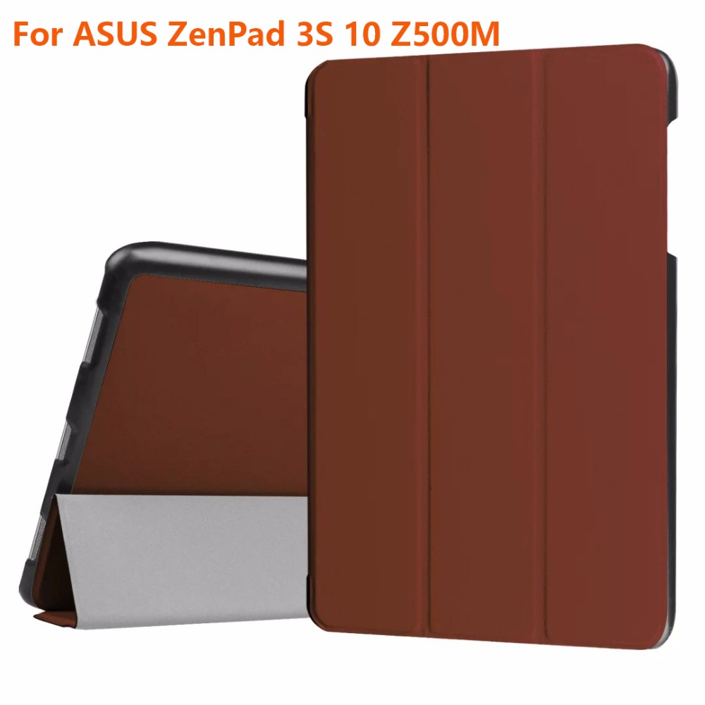 все цены на Pu Leather Tablet Smart cover For Asus ZenPad 3S 10 Z500M 9.7 inch MediaPad 3 Folding Stand Cover sleep/wake up case+Gifts онлайн
