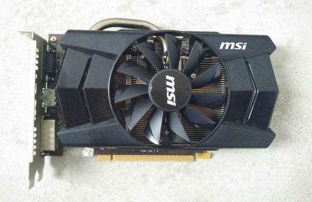 Usado original para MSI R7 250 1G DDR5 128bit Jogo PC placa Gráfica PCI Express 3.0 16X HDMI/DVI/VGA