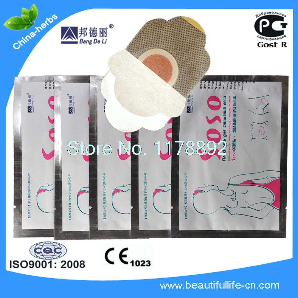 30pcs BandDeLi herbal SOSO reduce calories weight plaster, lose weight loss plaster or slimming patch, Diet plaster slimming tea