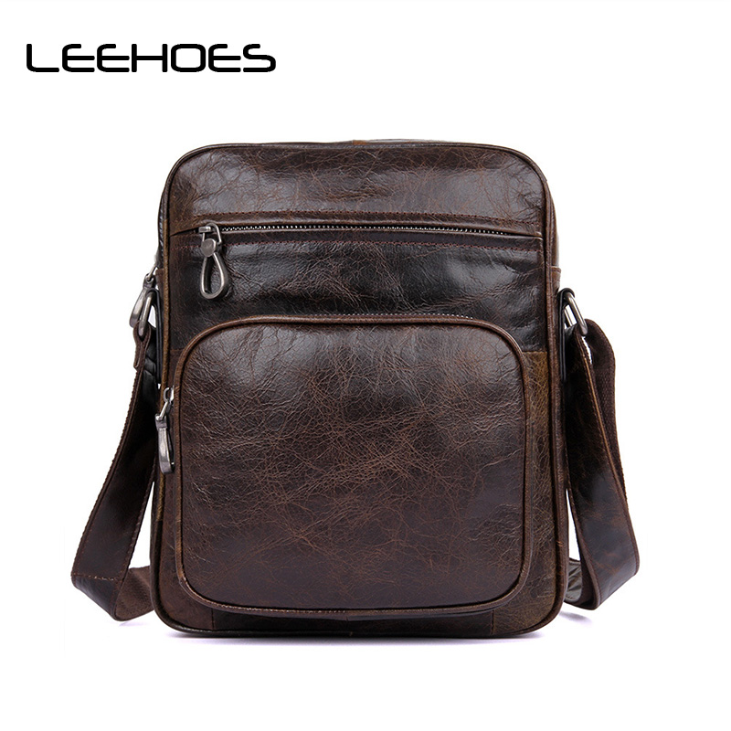 Brand Genuine Leather Bag Men Cowhide Leather Bags Messenger Bag Laptop Male Man Casual Tote Shoulder Crossbody Bags Handbags цена 2017