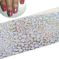 1x New Fashion Nail Art Transfer Foils Wraps  Polish Stickers Glitter Tip DIY Nail Decals Decoration Manicure Tools STZXK17
