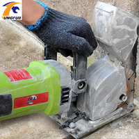 4000W Steel Concrete Cutting Machine 220V Electric Wall Chaser Groove Cutting Machine Wall Slotting Machine