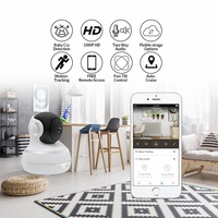 Security Camera 2MP 1080P Weatherproof Surveillance Wifi IP Home Cam with Night Vision Two Way Audio Cloud Storage