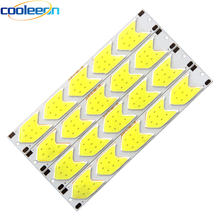 5pcs 5W 12V COB LED Strip Light Pure White 6500K for DIY Car DRL Lamp Decor Bulb 129MM Bendable Bar Lights House LED Lighting(China)