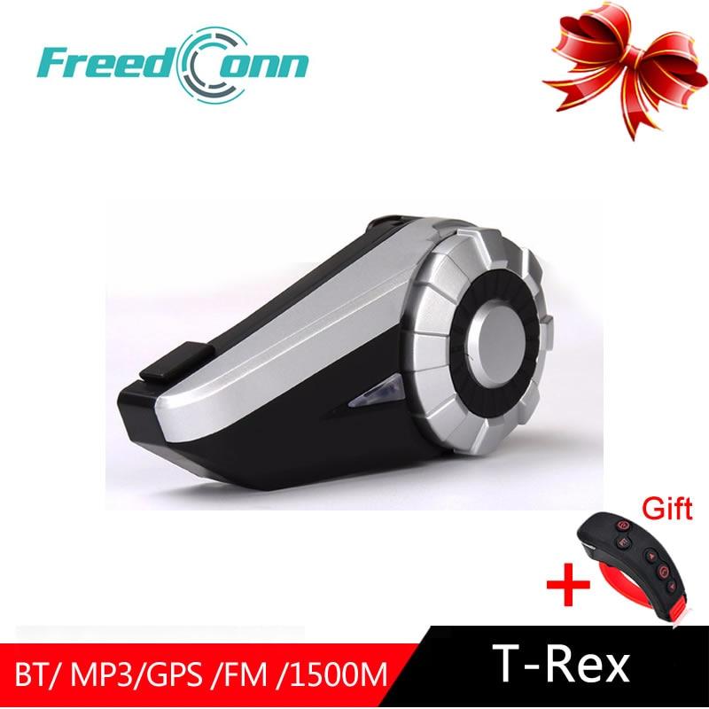 FreedConn T-Rex Drahtlose Bluetooth Motorrad Helm Intercom Intercomunicador System 1500m 8 Reiter Volle Duplex Kopfhörer Headset