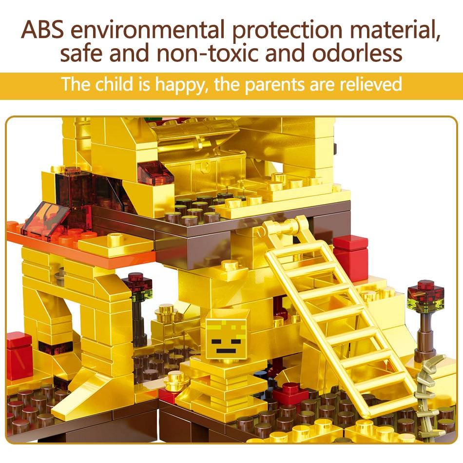 MY World Technic Golden Dragon Building Blocks Compatible LegoINGLYS Minecrafter Golden World Eductional Kit Children Toy 293PCS 5