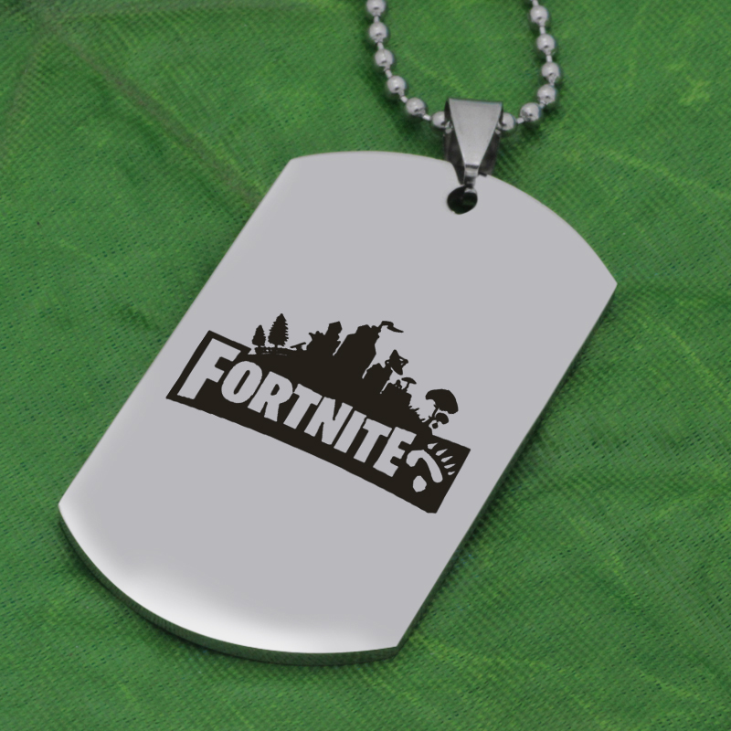 FPS Game city pendant Fortnite pendant stainless steel jewelry necklace Customed words or name necklace N447