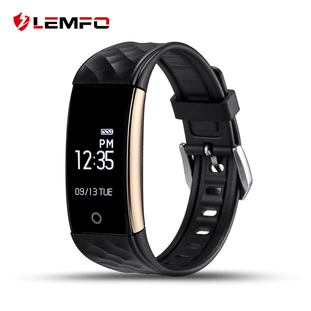 LEMFO S2 Bluetooth Smart Band Wristband Heart Rate IP67 Waterproof Smartband Bracelet For Android IOS Phone