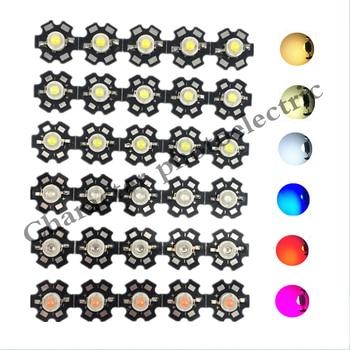 1W 3W 5W Warm White/Cool white Red Green Royal Blue Orange UV Violet RGB High Power LED Chip Light with PCB or not pcb 10pcs/lot cree xlamp xm l xml rgbw rgb white or rgb warm white color high power led emitter 4 chip 20mm star pcb board