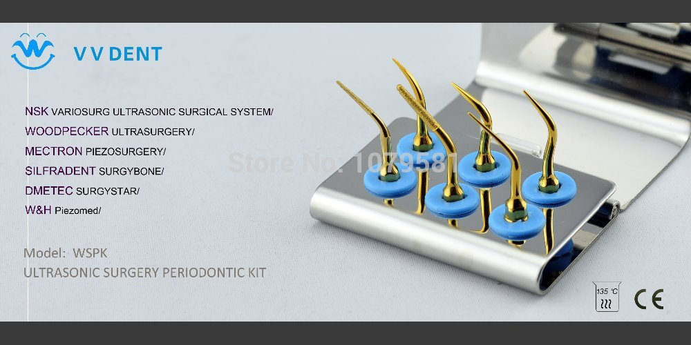 1 SET WSPK Mectron Periodontal kit FOR NSK surgic Pro easacrom surgysonic AND  bone system BY LOW dental implant costs chandni monga amarjit singh gill and paramjit kaur khinda periodontal regenerative therapy