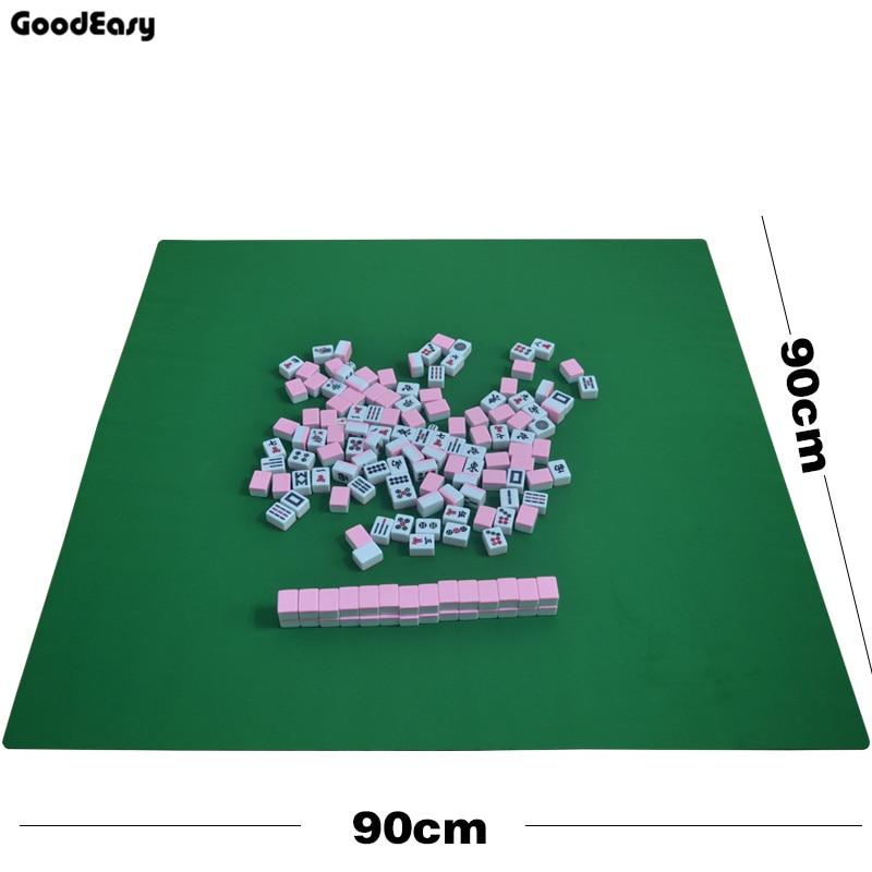 90x90cm Mahjong en caoutchouc nappe famille partie jeu Mini Mahjong tapis de Table (non inclus mahjong juste mahjong nappe)