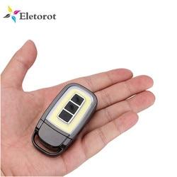Mini USB Aufladbare LED Taschenlampe COB Auto Schlüssel Tasche Taschenlampe 3 Modi Notfall Tragbare Camping Lanterna Nacht Licht