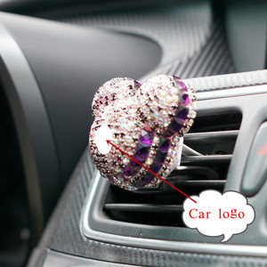 Image 1 - Car Air Freshener Crystal Auto outlet Perfume Car Air Conditioning Clip Smell Diffuser Ladies Auto Perfume Car Interior Decor
