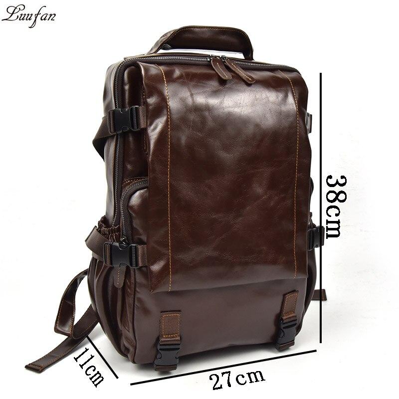 Männer Große Echtes Reise light Schule Multifunktionale orange2 Rucksack 14 Daypack Brown