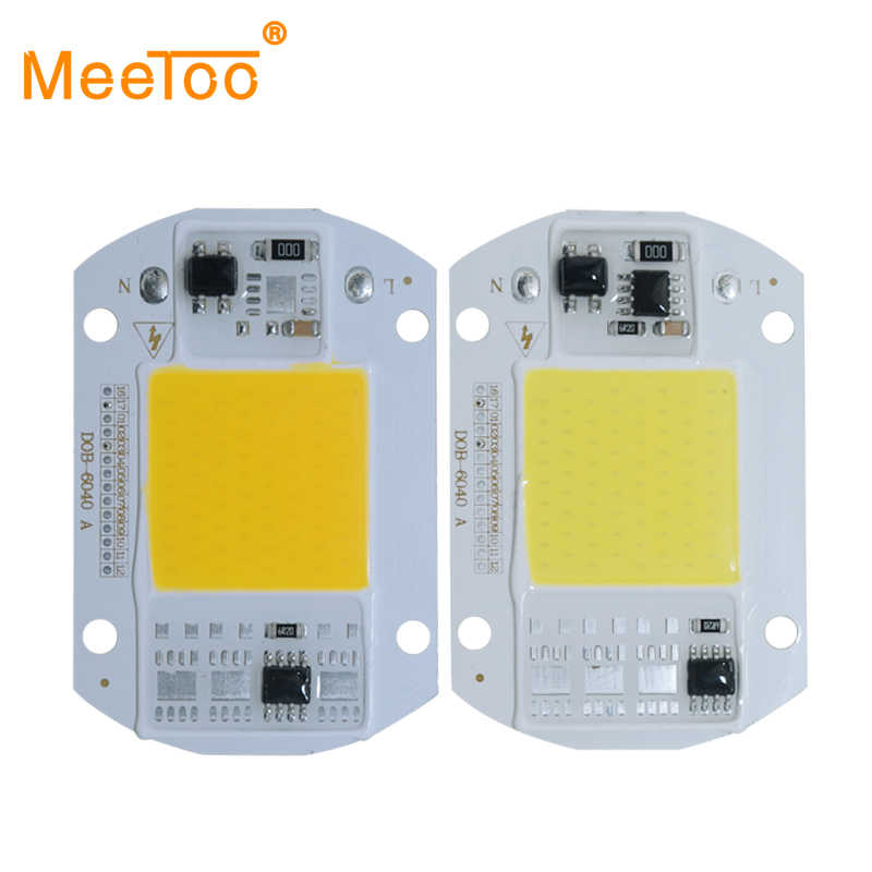 DIY LED COB Bulb Chip 30W 50W LED Lamp Chip AC 110V 220V Input Smart IC Fit For DIY LED Flood Light Cold Warm White Street Lamp