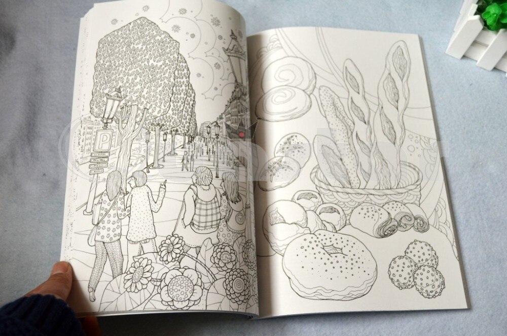 Francia viajes libro para colorear jardín secreto estilo libros para ...