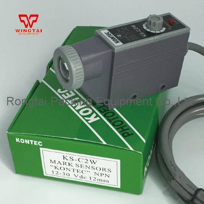KONTEC KS-C2W Mark Sensor For Packing Machine taiwan kontec ks c2g photoelectricity eye sensor green light