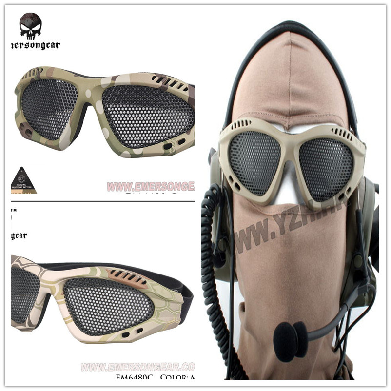 Safety Alrsoft Goggles Eye Protective Metal Mesh Eye Glasses CS Game Goggles Hot