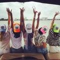 Noiva / noiva tribo Bachelorette chapéus mulheres de casamento Preparewear Trucker Caps Neon branco de malha de verão frete grátis